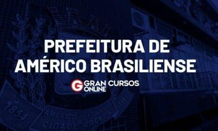 Concurso Américo Brasiliense SP: inscrições abertas. VEJA!