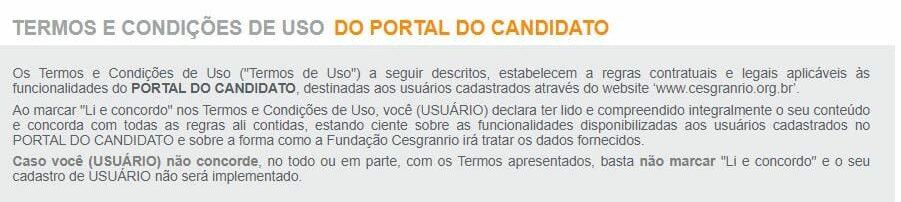 Concurso Banco do Brasil: termos e condições de uso para inscrição