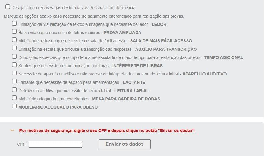 Concurso Banco do Brasil: parte 2 do formulário de inscrição BB 2021
