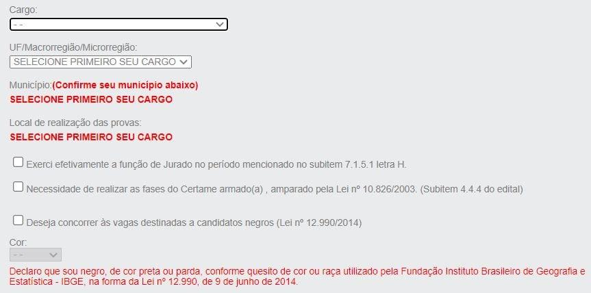 Concurso Banco do Brasil: formulário inscrição BB 2021