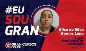 1° lugar no Concurso FAETEC: conheça Elisa da Silva!