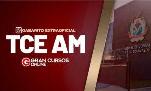 Gabarito Extraoficial – TCE AM- Contabilidade Geral!