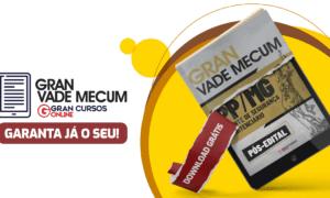 Concurso Polícia Penal MG: baixe o Gran Vade Mecum gratuito!
