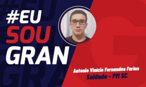 Aprovação no Concurso PM SC: conheça Antônio Farias!