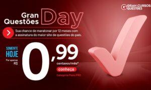 Questões Day: torne-se assinante PRO por R$ 0,99/ mês!