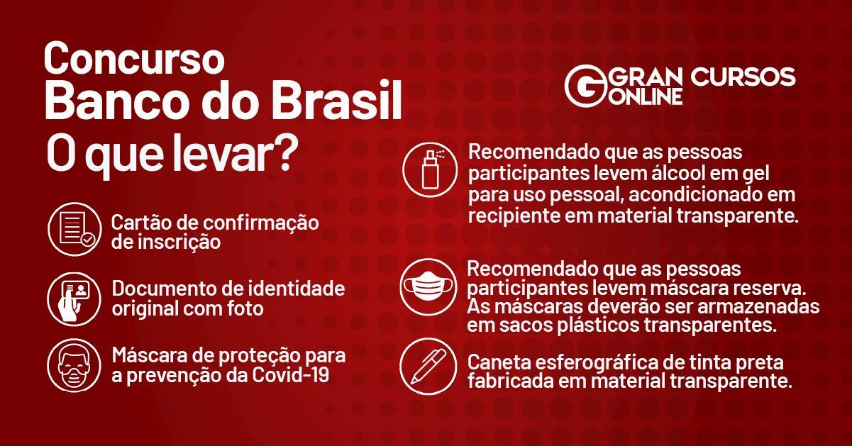 Concurso Banco do Brasil: orientações para a prova
